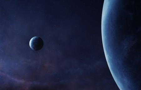 宇宙星球星空7680x2160高清高端电脑桌面壁纸