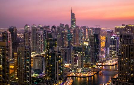 迪拜城市风景4K高端电脑桌面壁纸