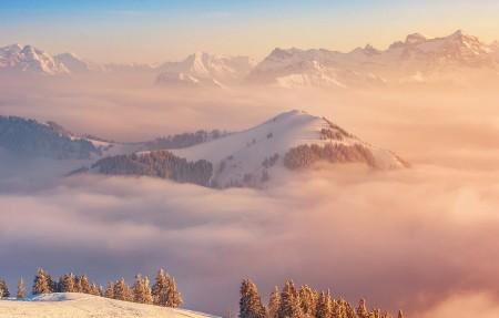 瑞士山脉云海4K风景超高清壁纸精选