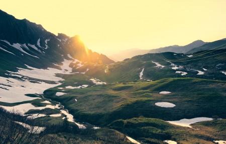 巴伐利亚的日落4K风景高端电脑桌面壁纸