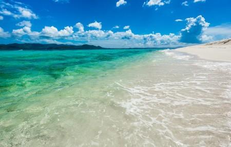 敦谦沙洲,英属维尔京群岛3840x2160风景高端电脑桌面壁纸
