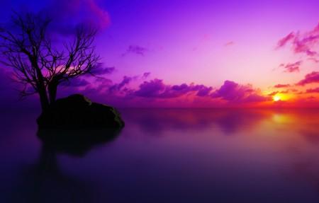 【4K】马尔代夫日落3840x2160风景高端电脑桌面壁纸