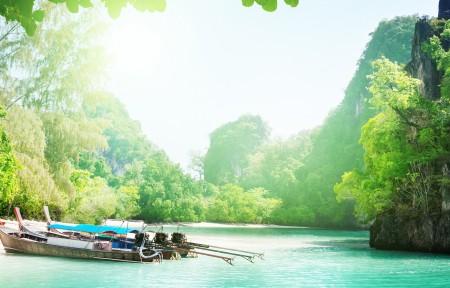 泰国美丽岛屿风景3440x1440高端电脑桌面壁纸