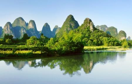桂林山水风景3440x1440高清高端电脑桌面壁纸