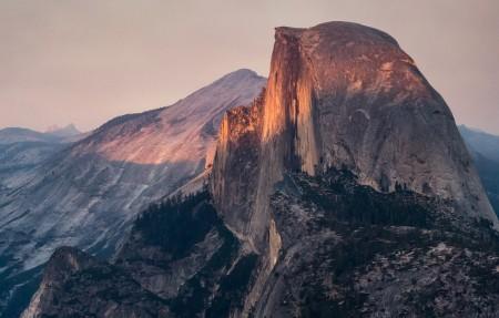 美国加州约塞米蒂国家公园半穹顶风景4k高端电脑桌面壁纸