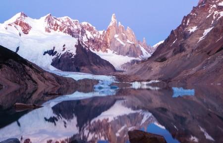 阿根廷巴塔哥尼亚地区国家公园 Cerro Torre峰3440x1440高端电脑桌面壁纸