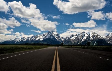 大提顿国家公园,天空之路3840x2160风景高端电脑桌面壁纸