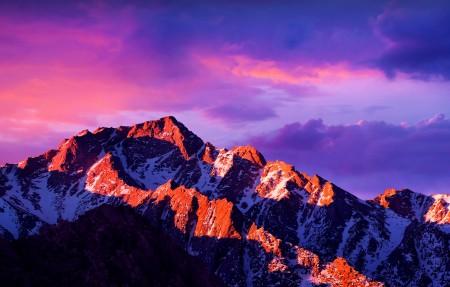 苹果mac山峰风景4K超高清壁纸推荐