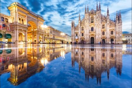 意大利米兰大教堂4K风景高端电脑桌面壁纸