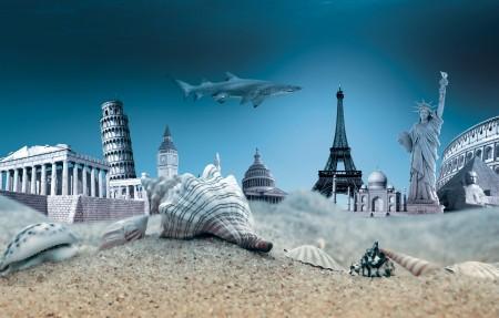 海洋 水下 贝壳 旅游 海洋世界 4K高端电脑桌面壁纸