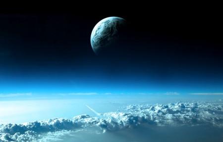 云 空间 天空 行星 4K高端电脑桌面壁纸