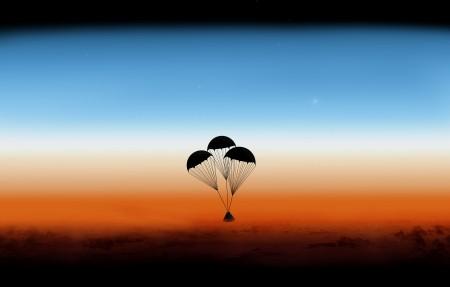 降落伞4K高端电脑桌面壁纸