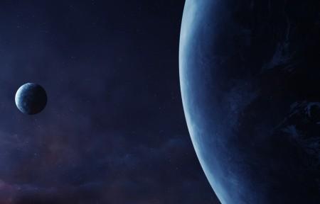 星球太空风景3440x1440高端电脑桌面壁纸