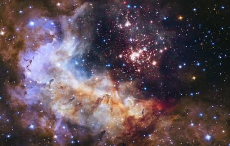 天上的烟火,NASA,ESA,星团,银河系,恒星,星空3840x2160高清高端电脑桌面壁纸