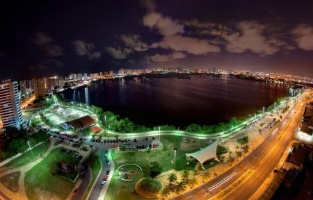 俯瞰城市美丽夜景4K高端电脑桌面壁纸