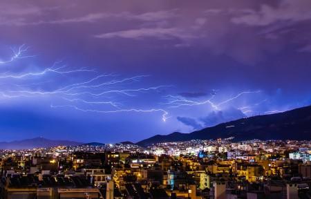 雷声 照明 闪电 云 闪电风暴 暴雨 自然风光 4K高端电脑桌面壁纸