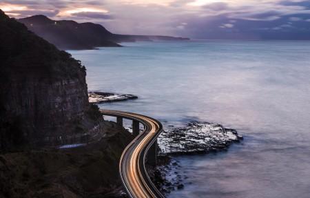 沿海桥梁3840x2160风景高端电脑桌面壁纸