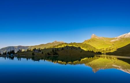 瑞士风景 湖 水库 3840x2160高清高端电脑桌面壁纸