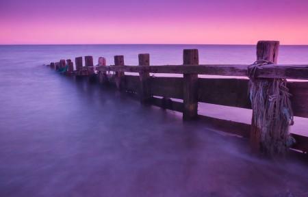 紫色的海洋4K风景高端电脑桌面壁纸