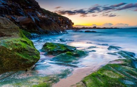 自澳大利亚海滩日出风景4K高端电脑桌面壁纸