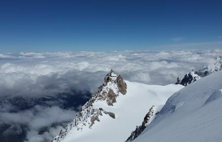 南针峰 夏蒙尼 高山 雪 景观4K风景超高清壁纸精选