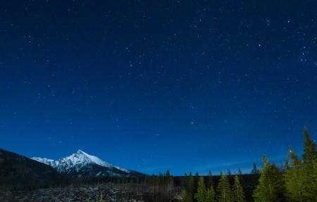 山区与夜 天空 星空 星星 4K风景高端电脑桌面壁纸