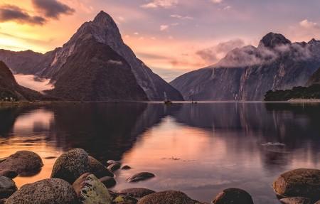 新西兰米尔福德峡湾4K风景壁纸超高清图片下载