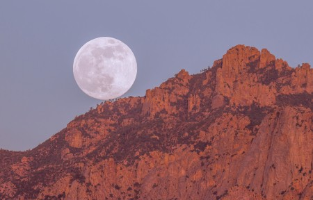 图森的超级月亮4K超高清壁纸推荐