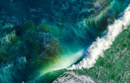 海洋 波浪 iOS MAC苹果4K高清高端电脑桌面壁纸