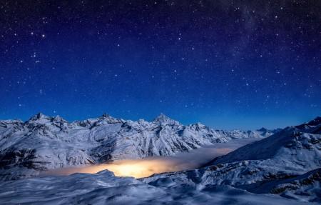 戈尔纳冰川 泻湖 星云 星空4K超高清壁纸精选