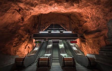 斯德哥尔摩 美妙的地铁站3840x2160高端电脑桌面壁纸