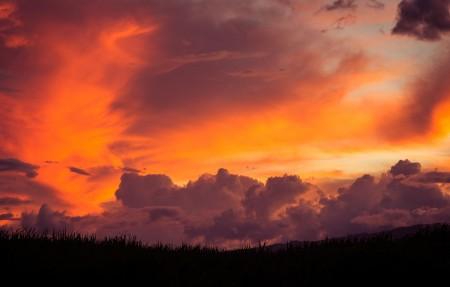 毛伊岛,惊人的日落,天空,云,3840x2160风景高端电脑桌面壁纸