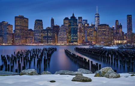 美国纽约夜景4K风景超高清壁纸推荐