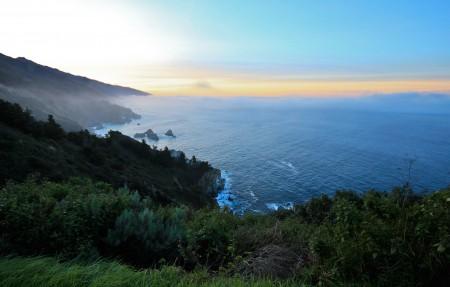 加州大苏尔海岸日出3840x2160高端电脑桌面壁纸