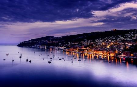 法国 蔚蓝色的海岸 日落风景4K高端电脑桌面壁纸