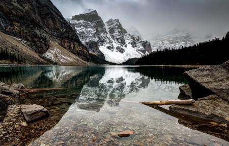 加拿大 莫林湖风景摄影4K超高清壁纸精选