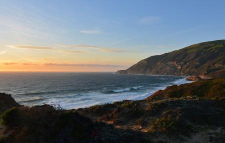 大苏尔 太阳 落山 海岸风景 4K超高清壁纸精选