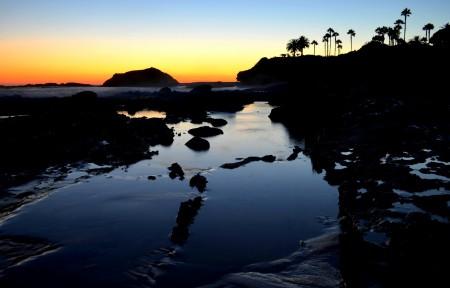拉古纳海滩的日落4K风景高端电脑桌面壁纸