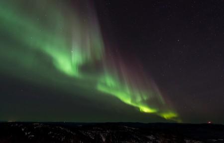 极光 北部 自然 夜 天空 瑞典 欧洲 星空 4K高端电脑桌面壁纸