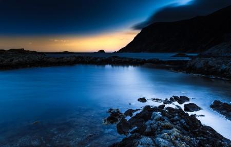 挪威 海洋 海滩 3840x2160风景高端电脑桌面壁纸