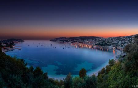 摩纳哥美丽的海湾4K风景超高清壁纸精选