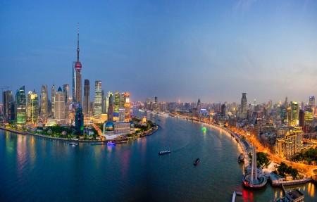 上海东方明珠城市风景4K高端电脑桌面壁纸3840x2160