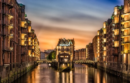 德国汉堡北城堡3840x2160 4K风景高端电脑桌面壁纸
