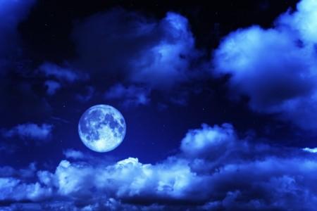 夜空 星云 月亮 星空风景4K高端电脑桌面壁纸