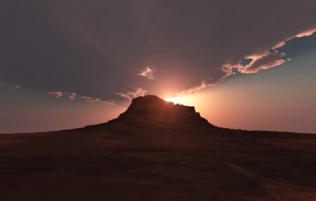 沙漠里的天空 云 风景4K高端电脑桌面壁纸