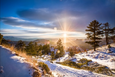 日出 阳光 冬天4K风景高端电脑桌面壁纸