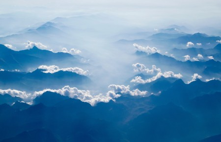 山 日出 美丽 天空 云 自然 6K风景图片