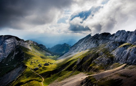 瑞士皮拉图斯山4K风景高端电脑桌面壁纸