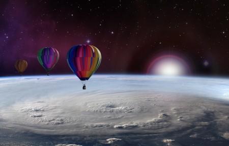 气球 气球 气球旅行 星空 4K风景超高清壁纸精选