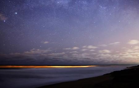 南方的天空 银河 参宿七 星星 星空 4K高端电脑桌面壁纸